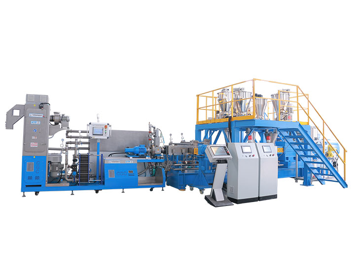 Biomass and mineral powder filled Bio-plastic PLA PBAT compounding line