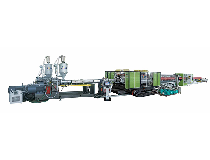 High speed water cooling Horizontal Type Double Wall Corrugated Pipe Extrusion Line