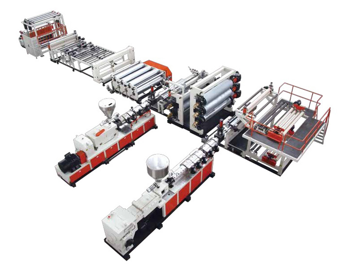 Tinggi Polymer Komposit Waterproof Roll Extrusion Line