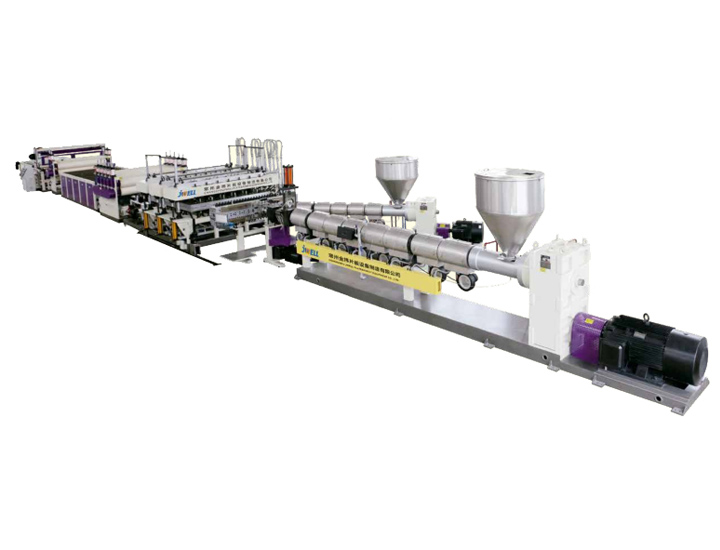 PP Hollow Building Formwork Dual Out Extrusion Line