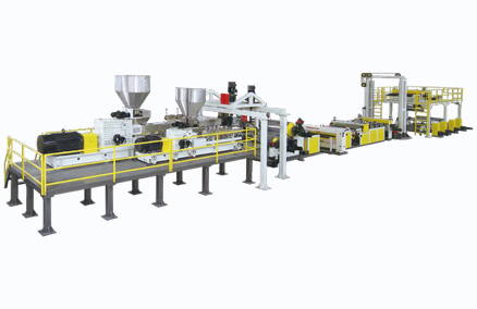 Jwell Twin tornillo sin secadora ventilada PET Sheet Extrusion Line